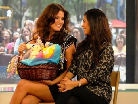 Kourtney Kardashian on the Today Show discussing her pregnancy